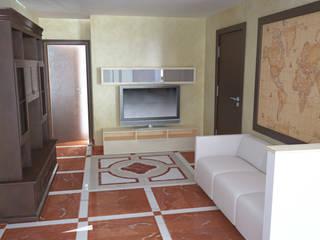 Rendering dell'ingresso: Ingresso & Corridoio in stile  di m2b2studio