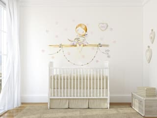 Nursery/kid's room by Murales Divinos,