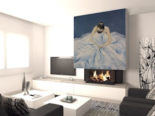 Living room by Murales Divinos, Modern