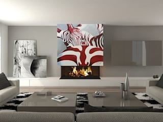 Living room by Murales Divinos