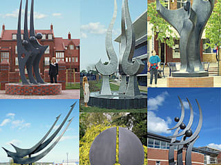 Large scale public sculpture:  Commercial Spaces by Paul Margetts