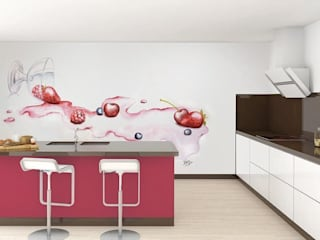Modern kitchen by Murales Divinos Modern