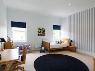 Wandsworth London, Detached House Refurbishment and Design Urban Cape Interiors Kamar Tidur Klasik