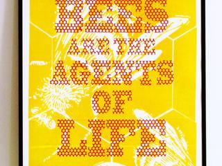 Beelicious Letterpress Print de Lucky budgie Letterpress Moderno