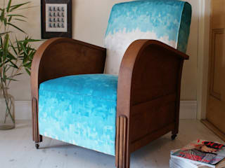 Art Deco Serene Club Armchair:   by DUNCOMBE OXLEYS