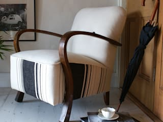 Art Deco Stripe Club Chair:   by DUNCOMBE OXLEYS