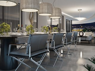 modern Dining room by care4home