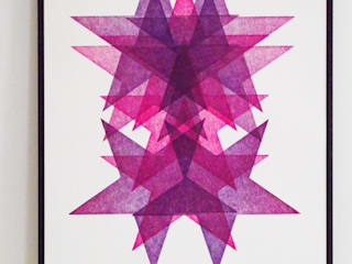 Star Portrait Letterpress Prints: modern  by Lucky budgie Letterpress, Modern