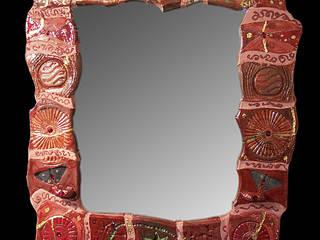 Specchi incantevoli in ceramica Raku Forgiatore di Elementi di Giuseppe Sautto Sala da pranzoAccessori & Decorazioni