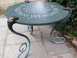 Serpent Table:   by Lettering & Sculpture