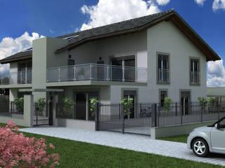 progetto palazzina in legno a Curio CH.: Case in stile in stile Moderno di studio architettura serati