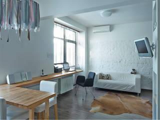Salas / recibidores de estilo  por арХбабы, Industrial