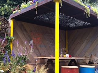 Urban arts garden for Metal Juniperhouse Event venues