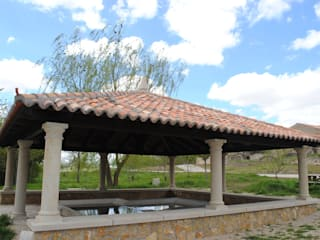 Jardin rustique par CUTECMA Estructuras de madera Rustique