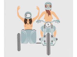 Girls on a side-car par ROMK ARTWORK Minimaliste