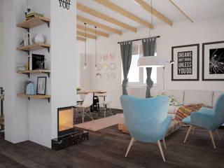 Скандинавский дом Гостиная в скандинавском стиле от room4life Скандинавский