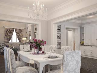 Неоклассика Столовая комната в классическом стиле от room4life Классический