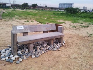 Eco Bench Competition - Biodiversity Park, Aravali Range Gurgaon Tropical style garden by Horizon Design Studio Pvt Ltd Tropical