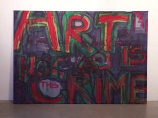 """Art is not a crime"":   von VALERIJA VUK MEDIA ART"