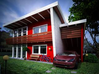 Rendering architettonici e di interni: Case in stile  di white studios