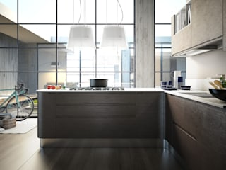 Kitchen space di LorianoGiacchi Moderno