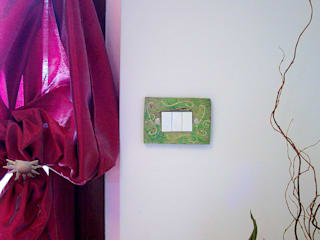 Copriprese in ceramica Raku Forgiatore di Elementi di Giuseppe Sautto Cucina eclettica