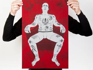 Who is The Real Criminal? ( Papier Blanc grain 135 g ):  de style  par Mathieu Monfourny