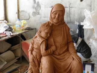 Çamur Sanat  – Nine ile torunu heykeli:  tarz