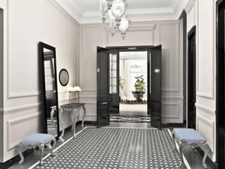 Дизайн-проект квартиры в Доме Бенуа Коридор, прихожая и лестница в модерн стиле от Мария Бекетова Света Лапина Модерн