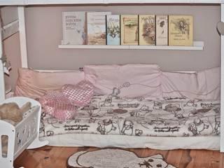 Super unikatowe łóżeczko drwniane - PIĘTROWY DOMEK : styl , w kategorii  zaprojektowany przez Eko Bracia