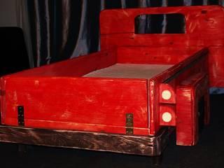 Super unikatowe łóżeczko drewniane - STARY PICKUP : styl , w kategorii  zaprojektowany przez Eko Bracia