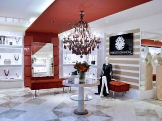 JOALHERIA DESIGN - CASA COR SP 2015 - BRASIL Lojas & Imóveis comerciais modernos por Adriana Scartaris: Design e Interiores em São Paulo Moderno