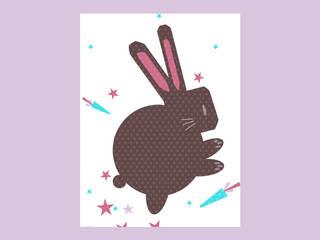 Affiche le lapin magique:  de style  par Fabrics Semperflorens
