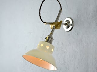 Cream Factory Wall Light:   by Artifact Lighting Ltd.