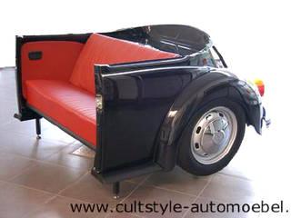 Beleuchtetes Sofa aus VW Käfer 1303 Heck:   von Cultstyle Automöbel