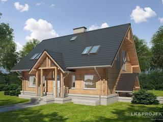 LK&909: styl , w kategorii Dom z drewna zaprojektowany przez LK & Projekt Sp. z o.o.,