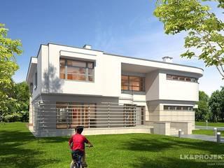 LK&907: styl , w kategorii Domy zaprojektowany przez LK & Projekt Sp. z o.o.,