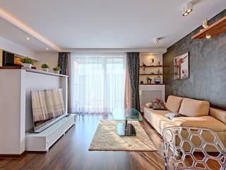 Meble na wymiar - zabudowa meblowa mieszkania od 3TOP Nowoczesny