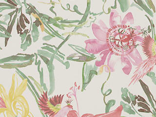 A superb collection of watercolour wallpaper designs by Lara Costafreda od Paper Moon Wiejski