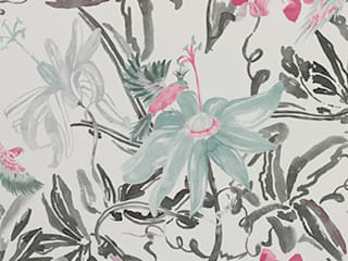A superb collection of watercolour wallpaper designs by Lara Costafreda di Paper Moon Rurale