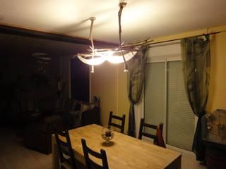 lustre long double éclairage par Bois Perdus Éclectique