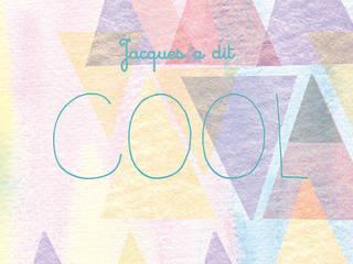Affiche illustrée Jacques a dit Cool par Un Point C'est Tù Scandinave