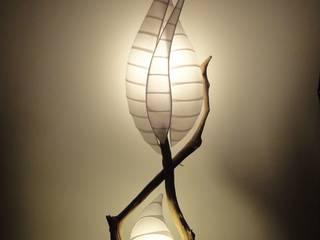 lampadaire double élairage papier japonais:  de style  par Bois Perdus