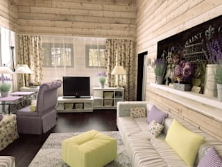 Country style living room by Artscale Country