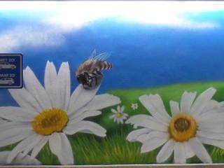 Interieur en exterieur paintings Landelijke winkelcentra van Mooie graffiti Landelijk