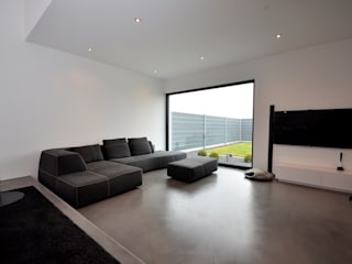 minimalistic Living room by lc[a] la croix [architekten]