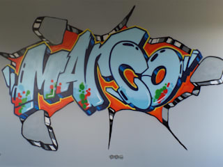 Interieur en exterieur paintings:   door Mooie graffiti