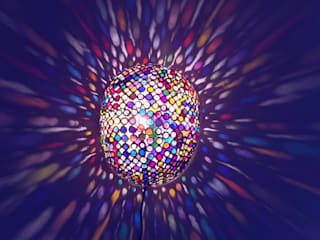 Sea Anemone Prism:  de style  par Amahe Luminaires Artistiques en Calebasse  (luminaire therapeutique)