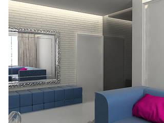 Pasillos, vestíbulos y escaleras de estilo ecléctico de Projektowanie wnętrz Berenika Szewczyk Ecléctico