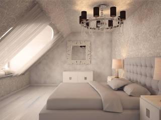 Дизайн-проект 5-комнатной квартиры в Петергофе: Спальни в . Автор – DEMARKA